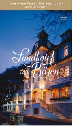 Vorschau der mobilen Webseite www.landhotel-zum-baeren.de, Landhotel zum Bären