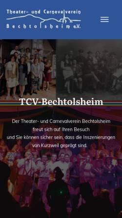 Vorschau der mobilen Webseite www.tcv-bechtolsheim.de, Theater- und Carnevalverein Bechtolsheim e.V.