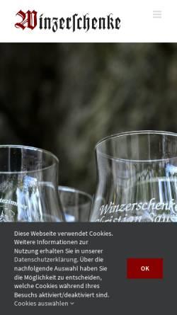 Vorschau der mobilen Webseite www.winzerschenke-beilstein.de, Gasthaus Winzerschenke