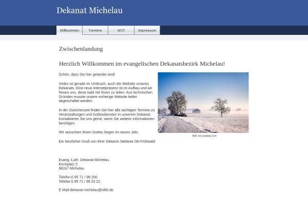 Vorschau von www.dekanat-michelau.de, Evang.-Luth. Dekanat Michelau