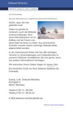 Vorschau der mobilen Webseite www.dekanat-michelau.de, Evang.-Luth. Dekanat Michelau