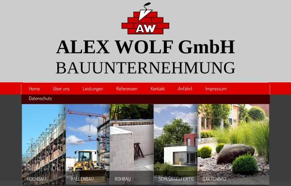 Vorschau von www.bauunternehmung-wolf.de, Alex Wolf GmbH - Bauunternehmung