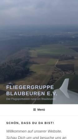 Vorschau der mobilen Webseite www.flgblaubeuren.org, Fliegergruppe Blaubeuren e. V.