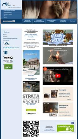 Vorschau der mobilen Webseite www.urmu.de, Urgeschichtliches Museum Blaubeuren