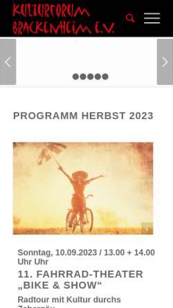 Vorschau der mobilen Webseite www.kulturforum-brackenheim.de, Kulturforum Brackenheim
