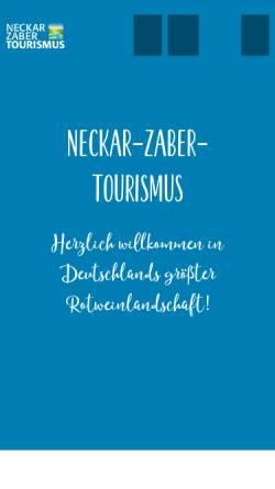 Vorschau der mobilen Webseite www.neckar-zaber-tourismus.de, Neckar-Zaber-Tourismus e.V.
