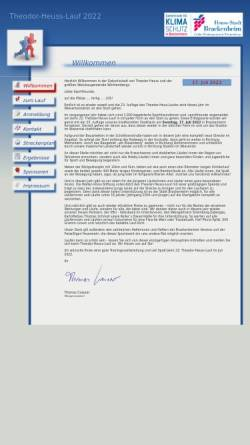 Vorschau der mobilen Webseite www.theodor-heuss-lauf.de, Theodor-Heuss-Lauf