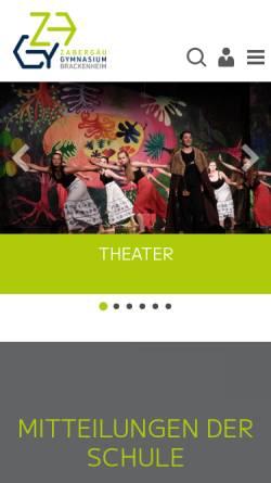 Vorschau der mobilen Webseite www.zagy.de, Zabergäu-Gymnasium Brackenheim
