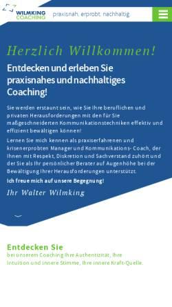 Vorschau der mobilen Webseite www.wilmking-ic.de, Wilmking International Consulting