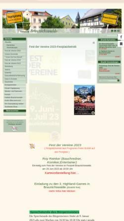 Vorschau der mobilen Webseite www.braunichswalde.de, Gemeinde Braunichswalde
