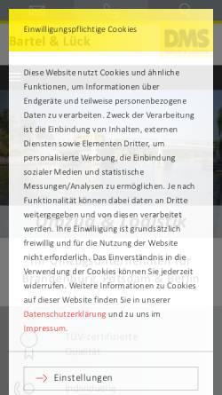 Vorschau der mobilen Webseite www.umzugbartel.de, Gebr. Bartel Möbelspedition GmbH
