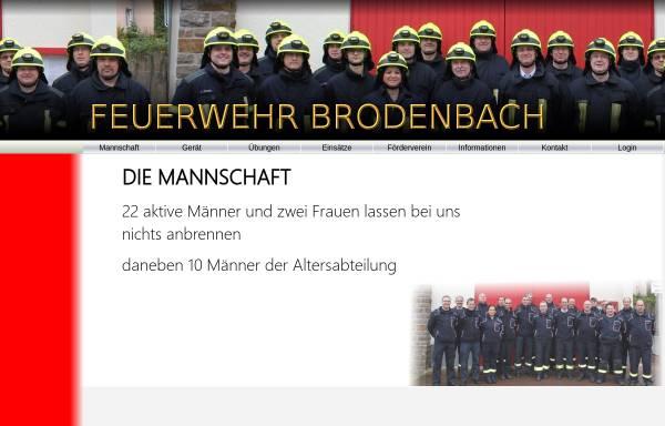 Vorschau von www.feuerwehr-brodenbach.de, Freiwillige Feuerwehr Brodenbach