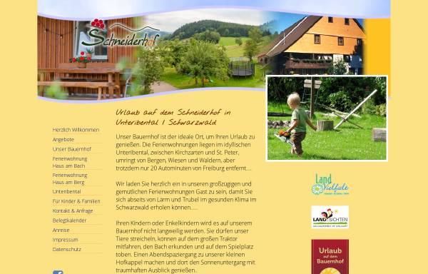 Vorschau von www.schneiderhof-unteribental.de, Schneiderhof