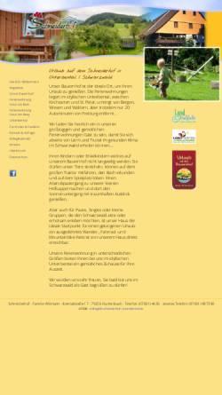 Vorschau der mobilen Webseite www.schneiderhof-unteribental.de, Schneiderhof