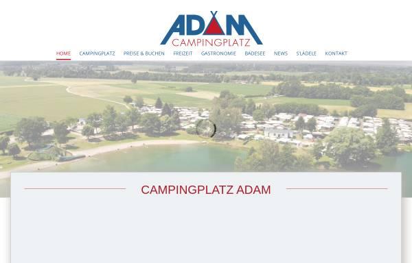 Vorschau von www.campingplatz-adam.de, Campingplatz Adam