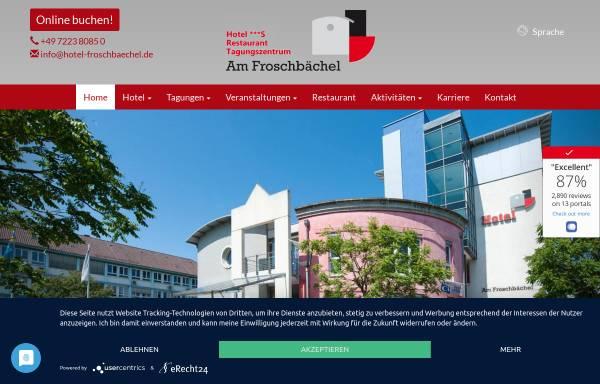 Vorschau von www.hotel-froschbaechel.de, Hotel Am Froschbächel, DRK Bildungszentrum