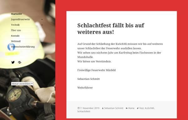 Vorschau von www.feuerwehr-minfeld.de, Freiwillige Feuerwehr Minfeld