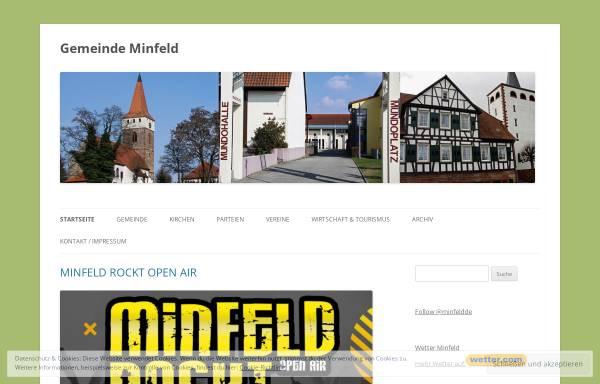 Vorschau von www.minfeld.de, Gemeinde Minfeld in der Pfalz