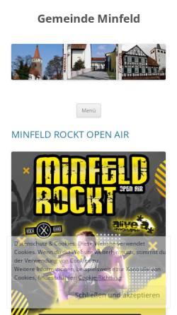 Vorschau der mobilen Webseite www.minfeld.de, Gemeinde Minfeld in der Pfalz