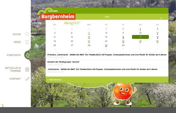 Vorschau von www.burgbernheim.de, Burgbernheim