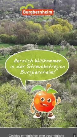 Vorschau der mobilen Webseite www.burgbernheim.de, Burgbernheim