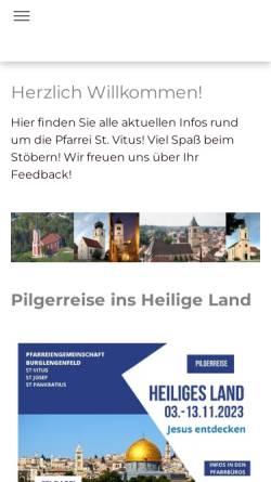 Vorschau der mobilen Webseite www.st-vitus.de, Pfarrgemeinde St. Vitus Burglengenfeld