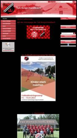Vorschau der mobilen Webseite www.tus-burgschwalbach.de, TuS Burgschwalbach