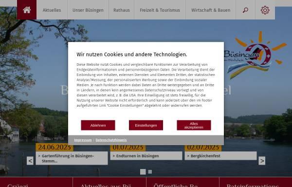 Vorschau von www.buesingen.de, Büsingen am Hochrhein
