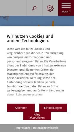 Vorschau der mobilen Webseite www.buesingen.de, Büsingen am Hochrhein