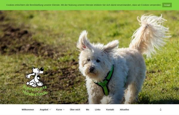 Vorschau von kunterbunte-hundestunde.de, Reginas Hundeschule