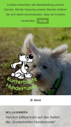 Vorschau der mobilen Webseite kunterbunte-hundestunde.de, Reginas Hundeschule