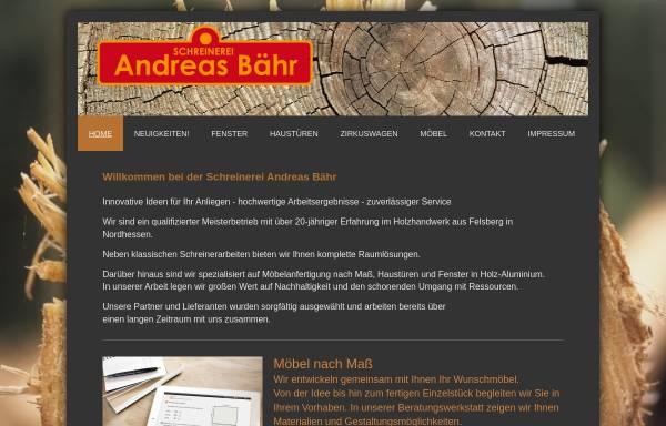 Vorschau von www.schreinerei-baehr.de, Schreinerei Andreas Bähr