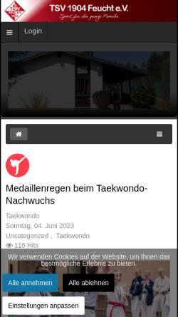 Vorschau der mobilen Webseite www.tsvfeucht.de, Turn- und Sportverein 04 Feucht e.V.