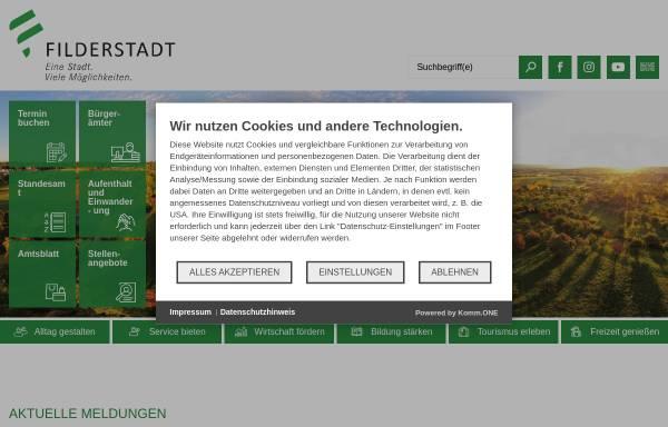 Vorschau von www.filderstadt.de, Stadt Filderstadt