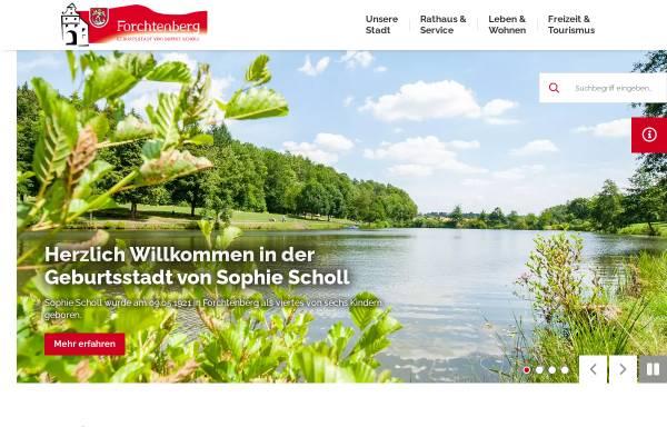 Vorschau von www.forchtenberg.de, Stadt Forchtenberg