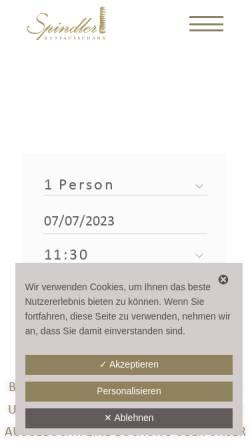 Vorschau der mobilen Webseite www.gutsausschank-spindler.de, Gutsausschank Spindler
