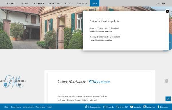 Vorschau von www.georg-mosbacher.de, Weingut Georg Mosbacher