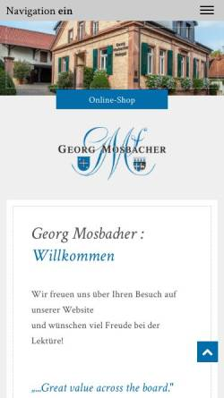 Vorschau der mobilen Webseite www.georg-mosbacher.de, Weingut Georg Mosbacher