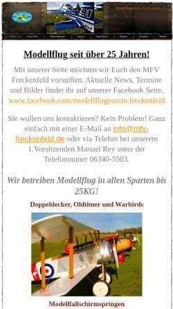 Vorschau der mobilen Webseite www.mfv-freckenfeld.de, Modellflugverein Freckenfeld e.V.