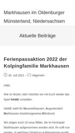 Vorschau der mobilen Webseite www.markhausen.de, Markhausen