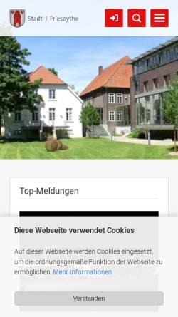 Vorschau der mobilen Webseite www.friesoythe.de, Stadt Friesoythe