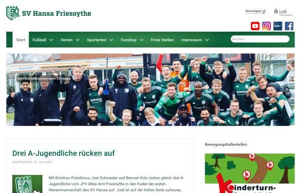 Vorschau von www.hansafriesoythe.de, SV Hansa Friesoythe e.V.