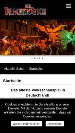 Vorschau der mobilen Webseite www.drachenstich.de, Der Drachenstich - historisches Festspiel in Futh im Wald