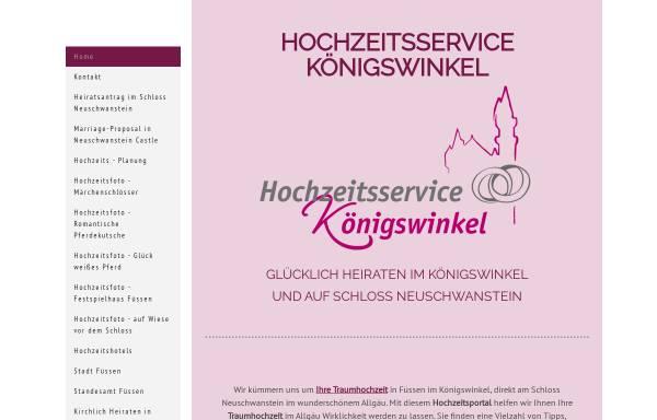 Vorschau von www.hochzeitsservice-koenigswinkel.de, Heiraten in Füssen
