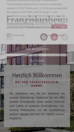 Vorschau der mobilen Webseite franziskusheim-glk.de, Franziskusheim Geilenkirchen