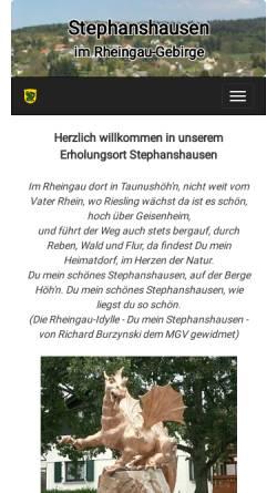 Vorschau der mobilen Webseite www.stephanshausen.de, Stephanshausen