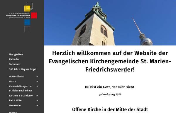 Vorschau von marienkirche-berlin.de, Evangelische Kirchengemeinde Marienkirche