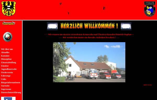 Vorschau von www.feuerwehrroth.de, Freiwillige Feuerwehr Gelnhausen Roth