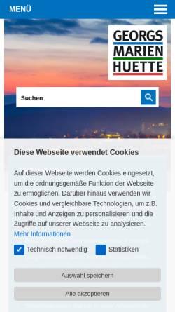 Vorschau der mobilen Webseite www.georgsmarienhuette.de, Georgsmarienhütte