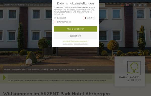 Vorschau von www.parkhotel-ahrbergen.de, Parkhotel Ahrbergen